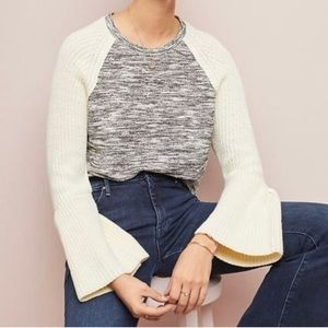 Anthropologie Dolan Bell Sleeves Marled Sweater XS